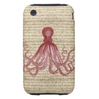 Vintage octopus iPhone 3 tough cover
