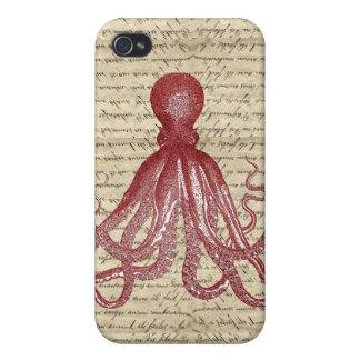 Vintage octopus iPhone 4 case