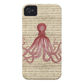 Vintage octopus iPhone 4 cover
