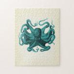"Vintage Octopus Jigsaw Puzzle<br><div class=""desc"">Vintage Octopus Illustration</div>"