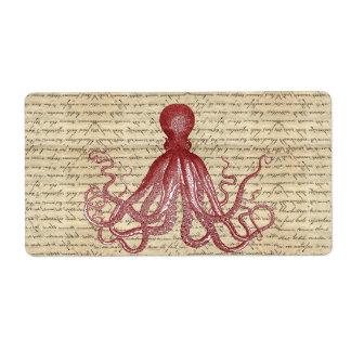 Vintage octopus label