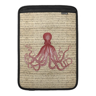 Vintage octopus MacBook air sleeve