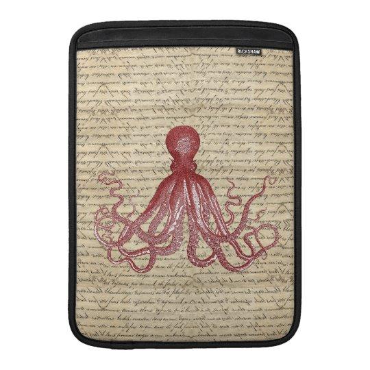 Vintage octopus MacBook air sleeve