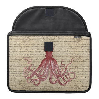 Vintage octopus MacBook pro sleeve