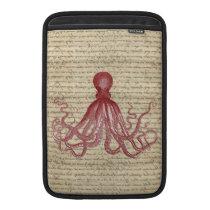 Vintage octopus MacBook sleeve