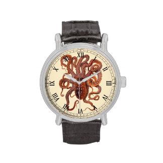 Vintage Octopus Macropus by Giacomo Merculiano Wrist Watches