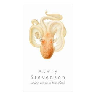 Vintage Octopus Marine Biology Nautical Business Cards