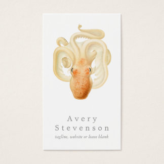 Vintage Octopus Marine Biology Nautical Business Card