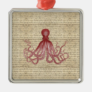 Vintage octopus metal ornament