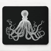 Vintage Octopus Mouse Pad