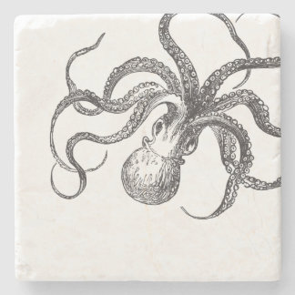 Vintage Octopus Nautical Decor Table Decorations Stone Coaster
