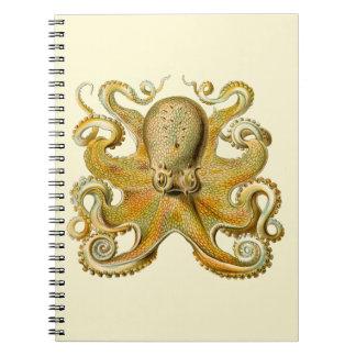Vintage Octopus Notebook
