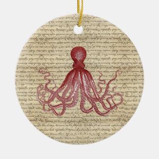 Vintage octopus christmas ornaments
