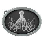 Vintage Octopus Oval Belt Buckle