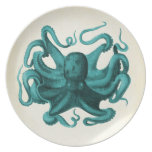 Vintage Octopus Plate