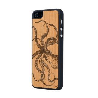 Vintage Octopus Sea Animal Scientific Illustration Wood iPhone SE/5/5s Case