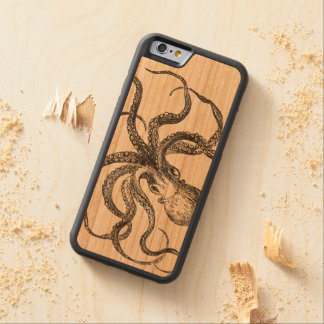 Vintage Octopus Sea Animals Natural History Carved Cherry iPhone 6 Bumper Case