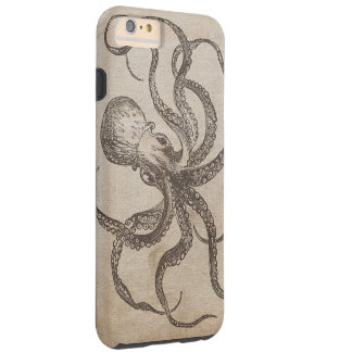 Vintage Octopus Sea Critters Ocean Life Old Paper Tough iPhone 6 Plus Case