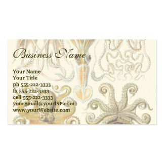 Vintage Octopus Squid Gamochonia by Ernst Haeckel Business Card