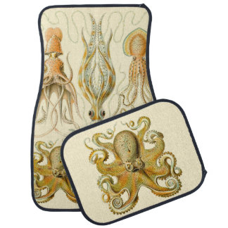 Vintage Octopus Squid Gamochonia by Ernst Haeckel Car Floor Mat