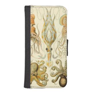 Vintage Octopus Squid Gamochonia by Ernst Haeckel iPhone 5 Wallet Case