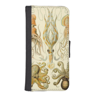 Vintage Octopus Squid Gamochonia by Ernst Haeckel iPhone SE/5/5s Wallet Case