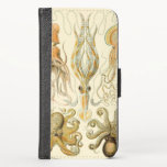 Vintage Octopus Squid Gamochonia by Ernst Haeckel iPhone XS Wallet Case