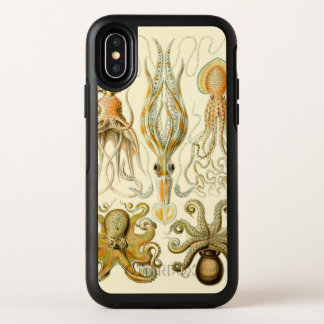 Vintage Octopus Squid Gamochonia by Ernst Haeckel OtterBox Symmetry iPhone X Case