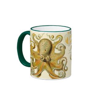 Vintage Octopus Squid Gamochonia by Ernst Haeckel Ringer Mug