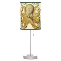 Vintage Octopus Squid Gamochonia by Ernst Haeckel Table Lamp