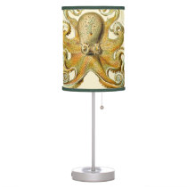 Vintage Octopus Squid Gamochonia by Ernst Haeckel Table Lamp