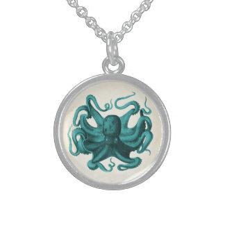 Vintage Octopus Sterling Silver Necklace