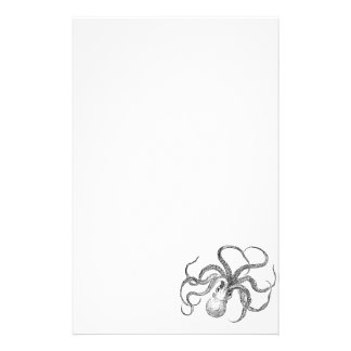 Vintage Octopus Template Stationery