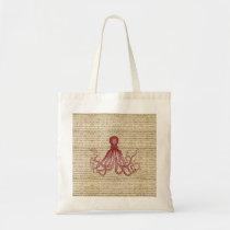Vintage octopus tote bag