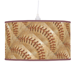 Vintage Off White Baseball  diamond Hanging Lamp