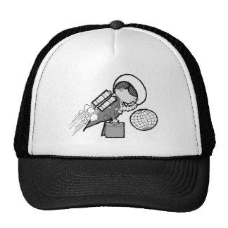 Vintage Office Spaceman Worker Astronaut Mesh Hats