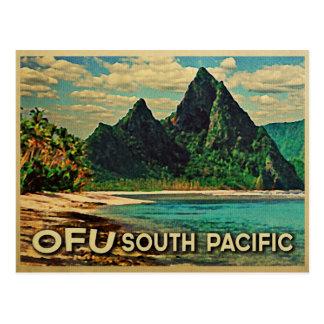 Vintage Ofu South Pacific Postcard
