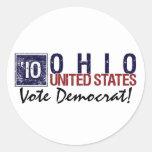 Vintage Ohio de Demócrata del voto en 2010 - Etiqueta Redonda