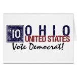 Vintage Ohio de Demócrata del voto en 2010 - Tarjetón