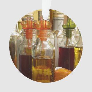 Vintage Oil Bottles Ornament