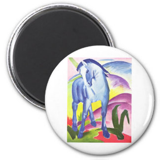 Vintage Oil On Canvas Horse From 1911 2 Inch Round Magnet