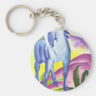 Vintage Oil On Canvas Horse From 1911 Keychain