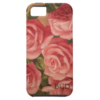 Vintage Oil Painting Pink Roses iPhone SE/5/5s Case