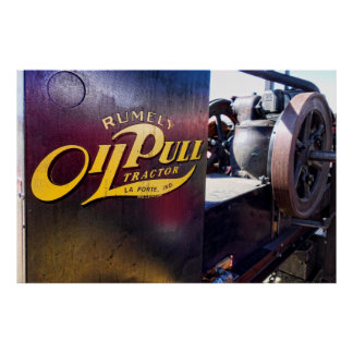VINTAGE OIL PULL TRACTOR POSTER