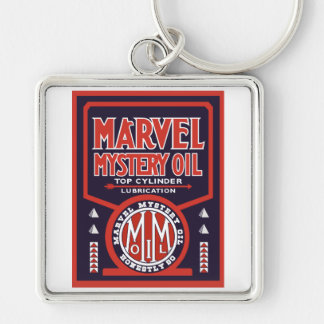 Vintage Oil sign reproduction Keychain