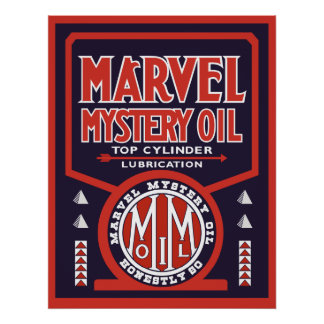 Vintage Oil sign reproduction Poster