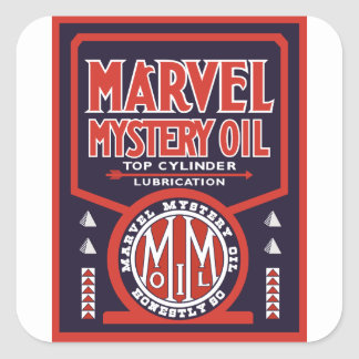 Vintage Oil sign reproduction Square Sticker