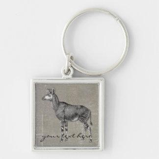 Vintage Okapi Key Chain