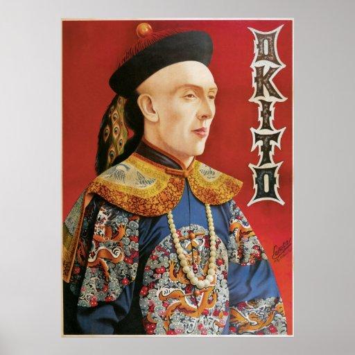 Vintage Okito Magician Poster