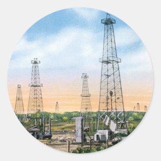 Vintage Oklahoma Classic Round Sticker